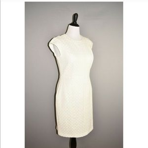 New Worthington white Foil Cap Sleeve Sheath Dress